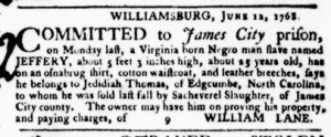 Jul 7 - Virginia Gazette Purdie and Dixon Slavery 4