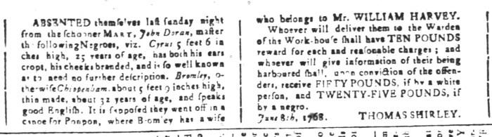 Jul 8 - South Carolina and American General Gazette Slavery 14