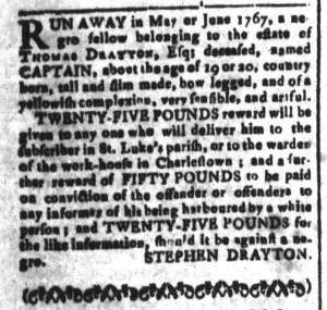Jul 8 - South Carolina and American General Gazette Slavery 4