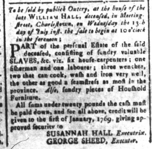Jul 8 - South Carolina and American General Gazette Slavery 6