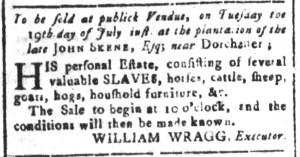 Jul 8 - South Carolina and American General Gazette Slavery 9
