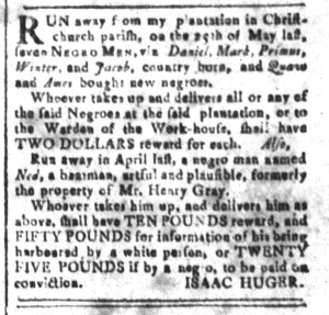 Jun 10 - South-Carolina and American General Gazette Slavery 7