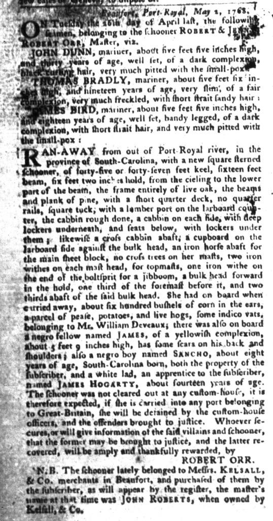 Jun 14 - South-Carolina Gazette and Country Journal Slavery 8