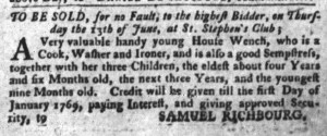 Jun 14 - South-Carolina Gazette and Country Journal Supplement Slavery 1