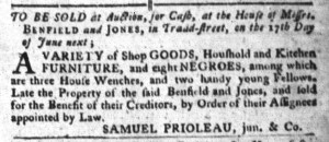 Jun 14 - South-Carolina Gazette and Country Journal Supplement Slavery 2