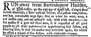 Jun 20 - New-York Gazette Weekly Mercury Supplement Slavery 3