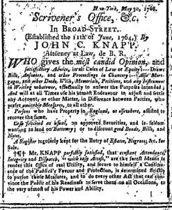 Jun 20 - New-York Gazette Weekly Post-Boy Slavery 1