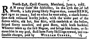 Jun 23 - Pennsylvania Gazette Slavery 4