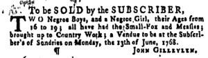 Jun 23 - Pennsylvania Gazette Supplement Slavery 3