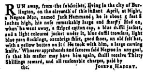 Jun 23 - Pennsylvania Gazette Supplement Slavery 4