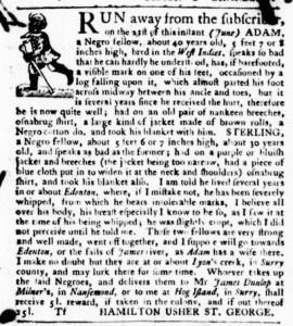 Jun 23 - Virginia Gazette Purdie and Dixon Slavery 4