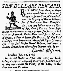 Jun 24 - New-Hampshire Gazette Slavery 1