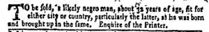 Jun 27 - New-York Gazette Weekly Mercury Supplement Slavery 3