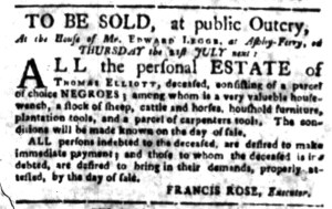 Jun 27 - South Carolina Gazette Slavery 3