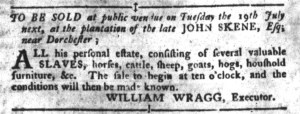 Jun 28 - South-Carolina Gazette and Country Journal Slavery 2