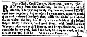 Jun 30 - Pennsylvania Gazette Slavery 4