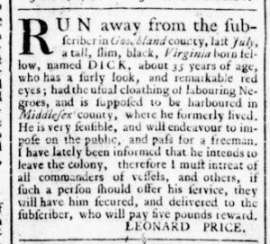 Jun 30 - Virginia Gazette Rind Slavery 3