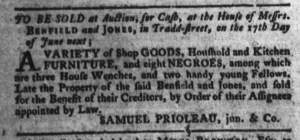 Jun 7 - South-Carolina Gazette and Country Journal Slavery 3