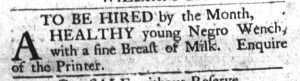 Jun 7 - South-Carolina Gazette and Country Journal Supplement Slavery 5