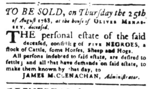 Aug 1 - South-Carolina Gazette Slavery 2