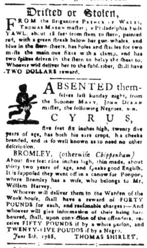 Aug 1 - South-Carolina Gazette Slavery 3