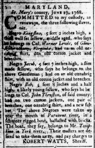 Aug 4 - Virginia Gazette Rind Slavery 6
