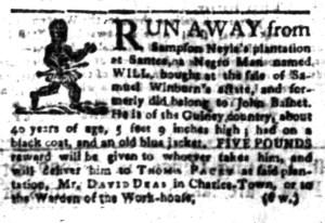 Aug 8 - South-Carolina Gazette Slavery 6