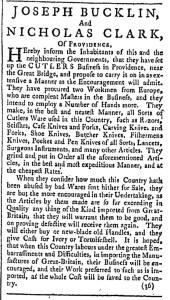 Jul 16 - 7:16:1768 Providence Gazette