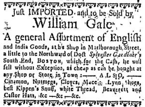 Jul 17 - 7:14:1768 Massachusetts Gazette Draper