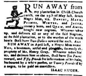 Jul 18 - South-Carolina Gazette Postscript Slavery 6