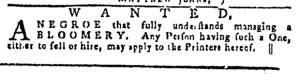 Jul 21 - Pennsylvania Gazette Slavery 1
