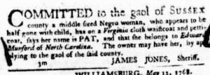 Jul 21 - Virginia Gazette Purdie and Dixon Slavery 6