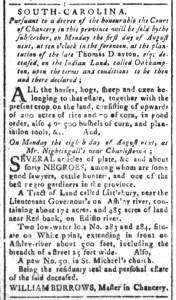Jul 22 - South Carolina and American General Gazette Slavery 6