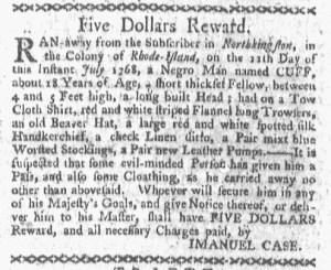 Jul 25 - Boston-Gazette Slavery 1