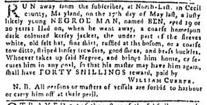 Jul 28 - Pennsylvania Gazette Slavery 1
