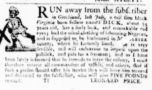 Jul 28 - Virginia Gazette Purdie and Dixon Slavery 5