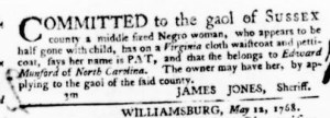 Jul 28 - Virginia Gazette Purdie and Dixon Slavery 8