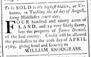 Jul 28 - Virginia Gazette Rind Slavery 7