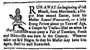 Aug 12 - New-Hampshire Gazette Slavery 1
