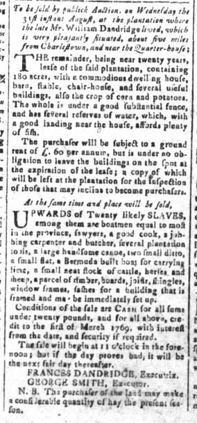 Aug 12 - South-Carolina and American General Gazette Slavery 1