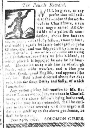 Aug 12 - South-Carolina and American General Gazette Slavery 6
