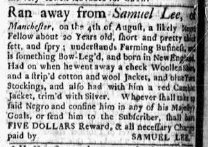 Aug 15 - Boston Evening-Post Slavery 1