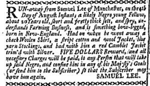 Aug 15 - Boston-Gazette Supplement Slavery 1