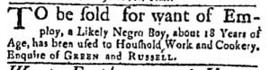 Aug 15 - Massachusetts Gazette Green and Russell Slavery 1