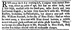 Aug 15 - New-York Gazette Weekly Mercury Slavery 1