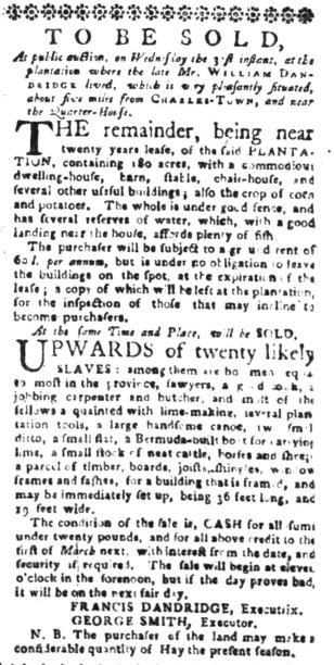 Aug 15 - South-Carolina Gazette Slavery 5