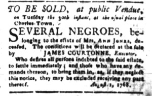 Aug 15 - South-Carolina Gazette Slavery 8