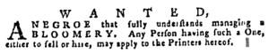 Aug 18 - Pennsylvania Gazette Slavery 1