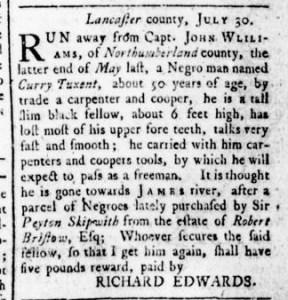 Aug 18 - Virginia Gazette Rind Slavery 4