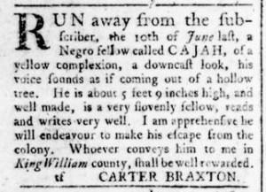 Aug 18 - Virginia Gazette Rind Slavery 8